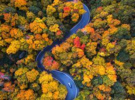 Vẻ đẹp cổ tích của mùa thu nước Mỹ nhìn từ trên cao