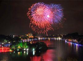 Những địa điểm bắn pháo hoa tuyệt đẹp ở Hà Nội