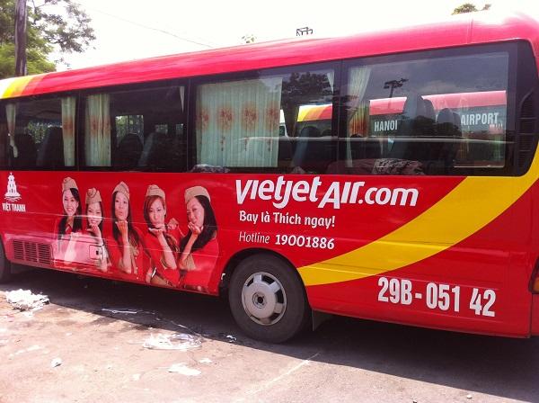 Xe bus sân bay Nội Bài Vietjet Air