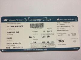 Làm cuống vé máy bay các hãng Vietjet, Vietnam Airlines và Jetstar