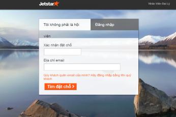 Kiểm tra mã đặt chỗ Jetstar