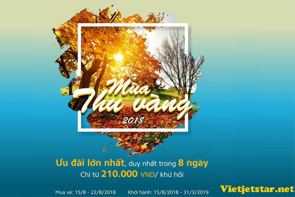 Vietnam Airlines khuyến mãi mùa thu vàng giá chỉ từ 299K