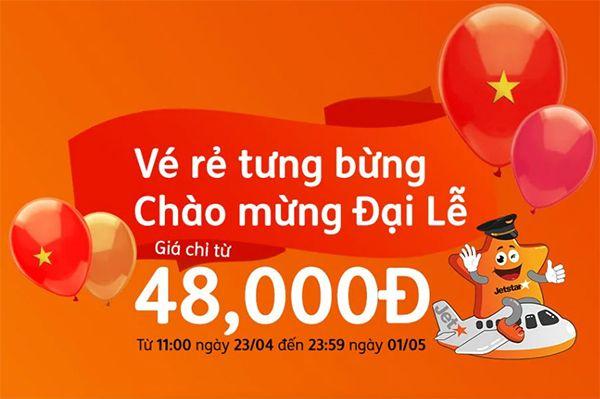 Tết Độc lập Jetstar khuyến mãi vé máy bay đi Nha Trang chỉ 48K